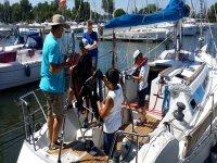 i primi passi sulla barca