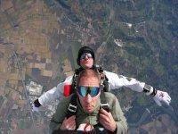 Salto paracadute nel Monferrato