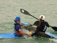 Canoe students pole