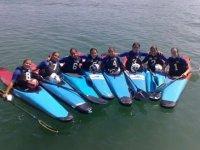 Canoe races polo