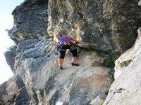in arrampicata a Roccamorice (PE) Abruzzo
