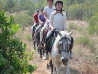 trekking a cavallo autonomi in Toscana