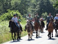 Passeggiata con i cavalieri