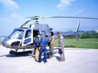 We start by helicopter