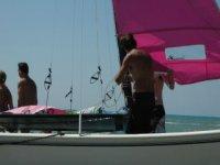 A bordo del catamarano Ostia