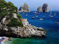 La vista delle barche da Capri