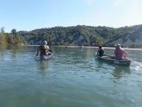 Canoe aperte sul magnifico fiume Po