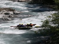 Rafting on the Dora in Cesana Torinese