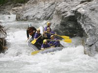 Rafting on the Dora gorges of Cesana
