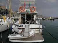 Our boat moored