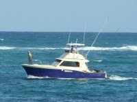 Boat ready for sport fishing