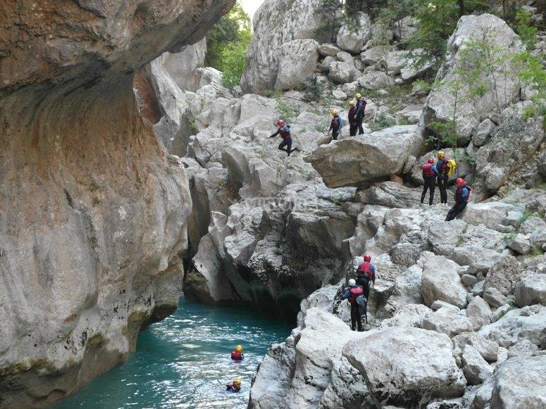 Canyoning a Campora