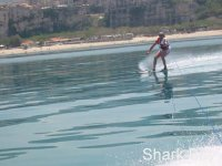 Adrenaline in the water with skis