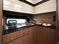 The kitchen of the yacht