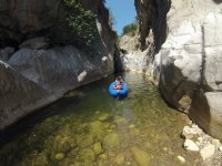 Canoe into the canyon Gorges of the Tiberius