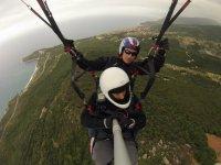 Flying on the Sicilian coast