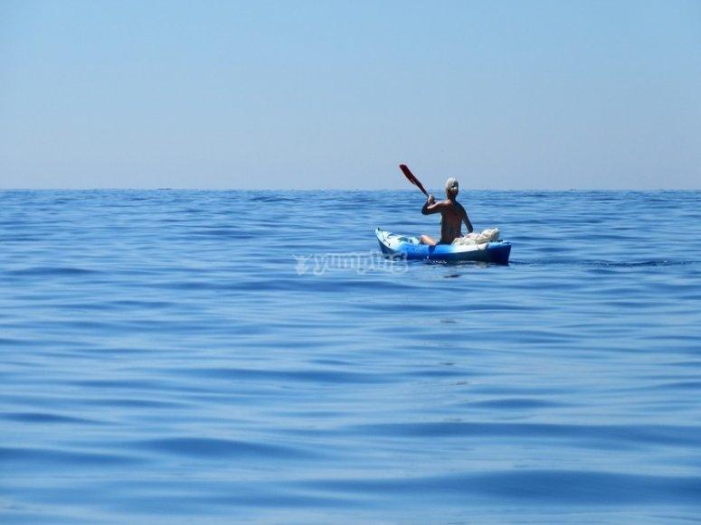 Pagaiando al largo