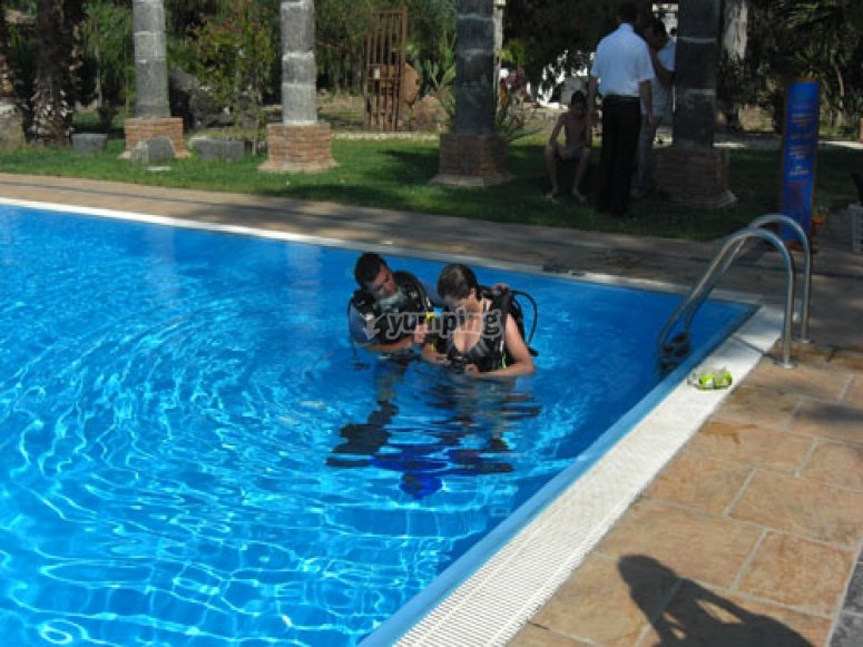 Lessons in the pool