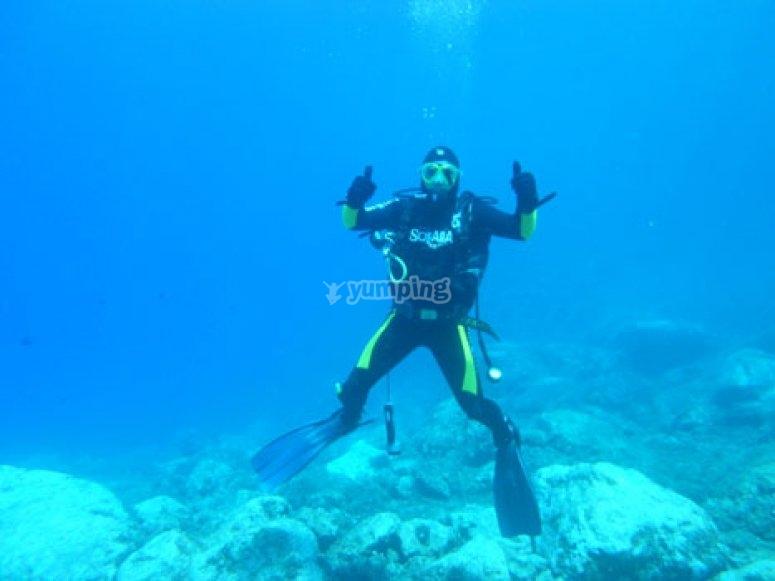 Tutto ok sott acqua