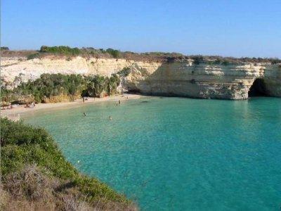 North Otranto day trip by rubber dinghy