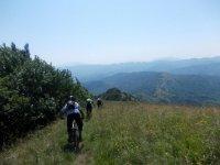 Percorso in bici con paesaggio