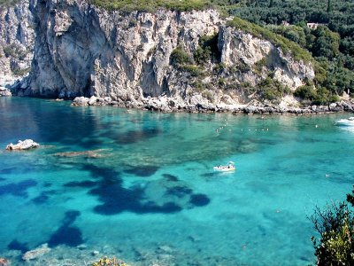 Daily excursion to Corfu by rubber dinghy