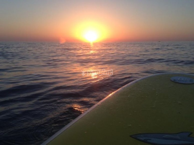 Tramonto in Paddle