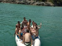 In dinghy
