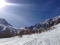 Along the slopes