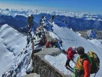 Along the climb