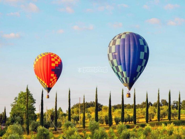 in volo sulla Toscana
