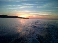 battuta di pesca al tramonto