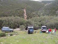 In jeep in Sardegna