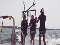Atterraggio sulla barca