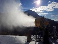gli impianti di neve programmata