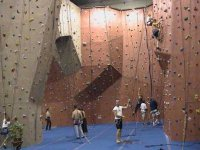 Climbing in the gym