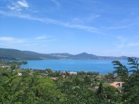 Lago Di Bracciano Panorama dall elicottero