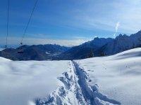 Sulla neve fresca