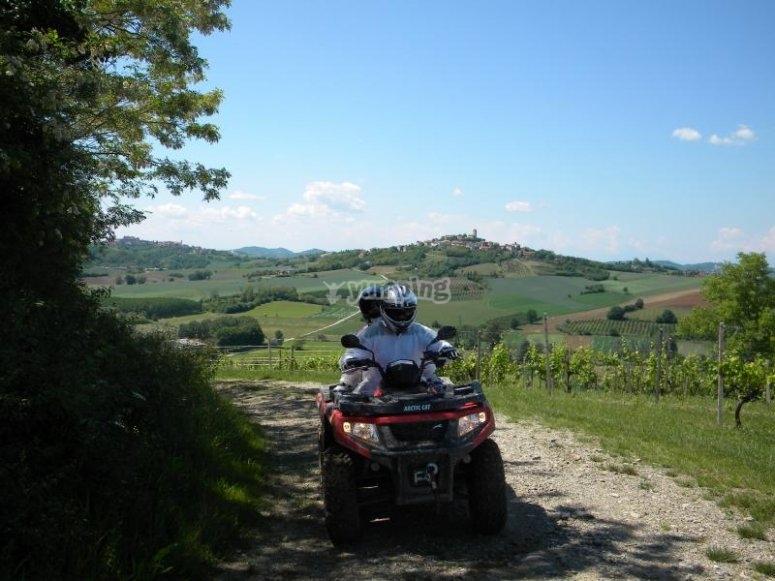 Escursione in quad nel Monferrato