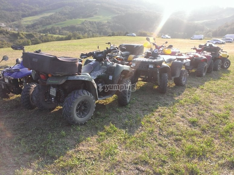 I quad in comitiva