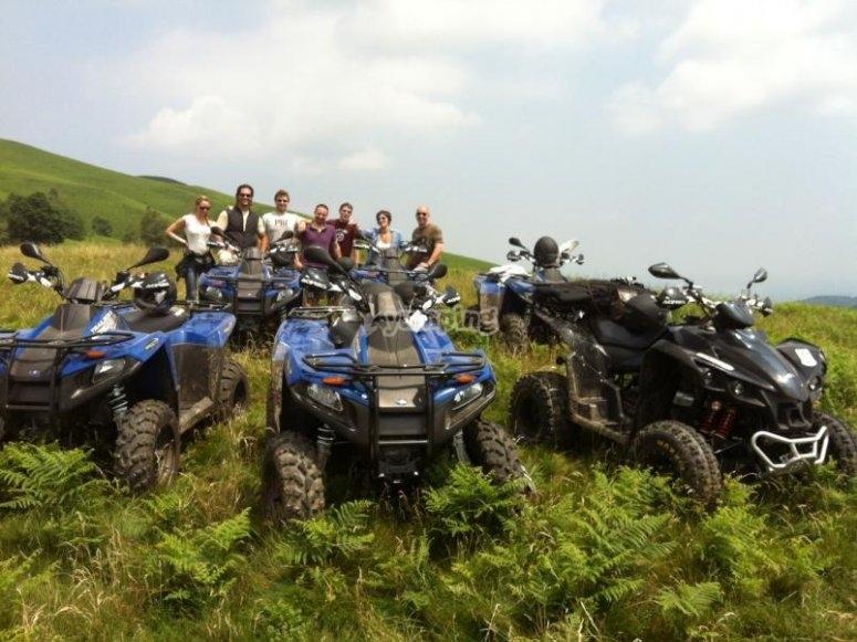 Foto ricordo dell'escursione in quad