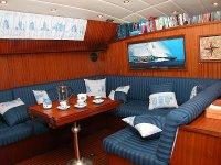 Interior of sailing boat