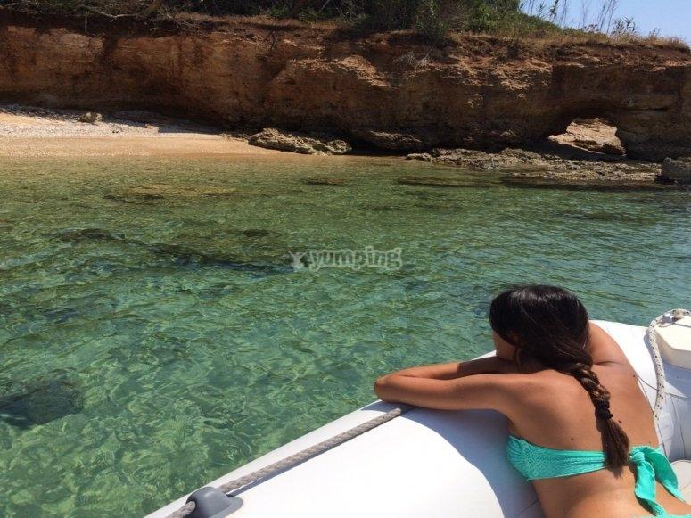 In barca a godersi il sole di luglio