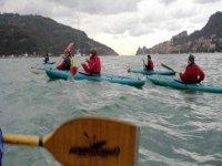 Canoa sulle acque del Po