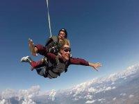 Lancio in paracadute tandem