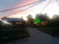 Il parco al tramonto