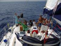 Holidays on a sailing boat