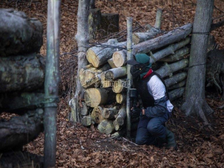 Dietro le barricate di legno