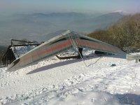 Deltaplano sulla neve