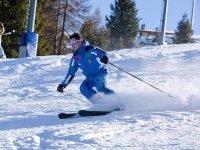 fino a diventare un grande sciatore